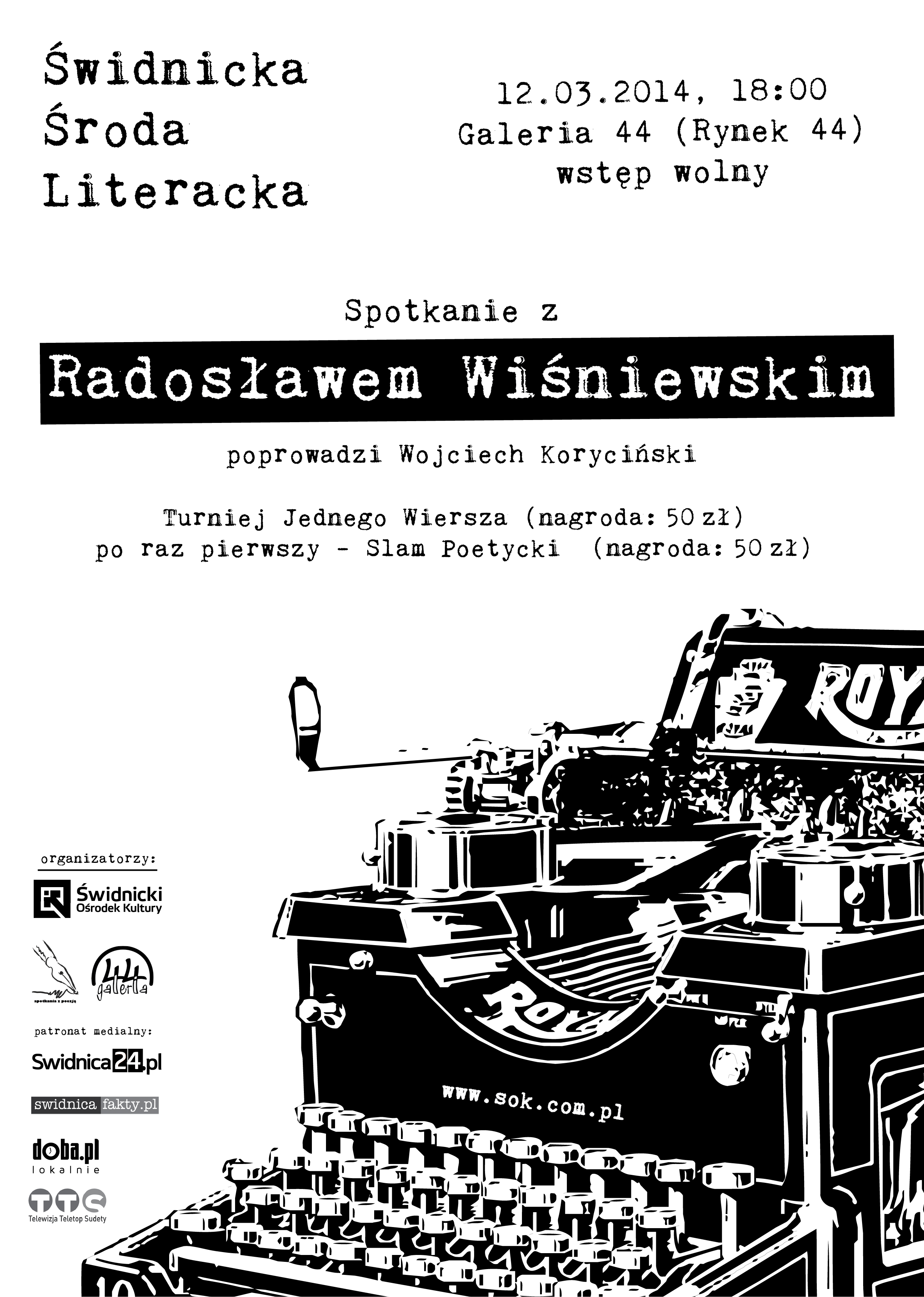 Świdnicka Środa Literacka: Radosław Wiśniewski