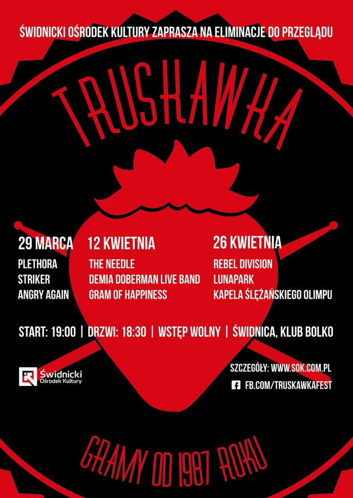 Truskawka: The Needle + Demia Doberman Live Band + Gram of Happiness [koncert]