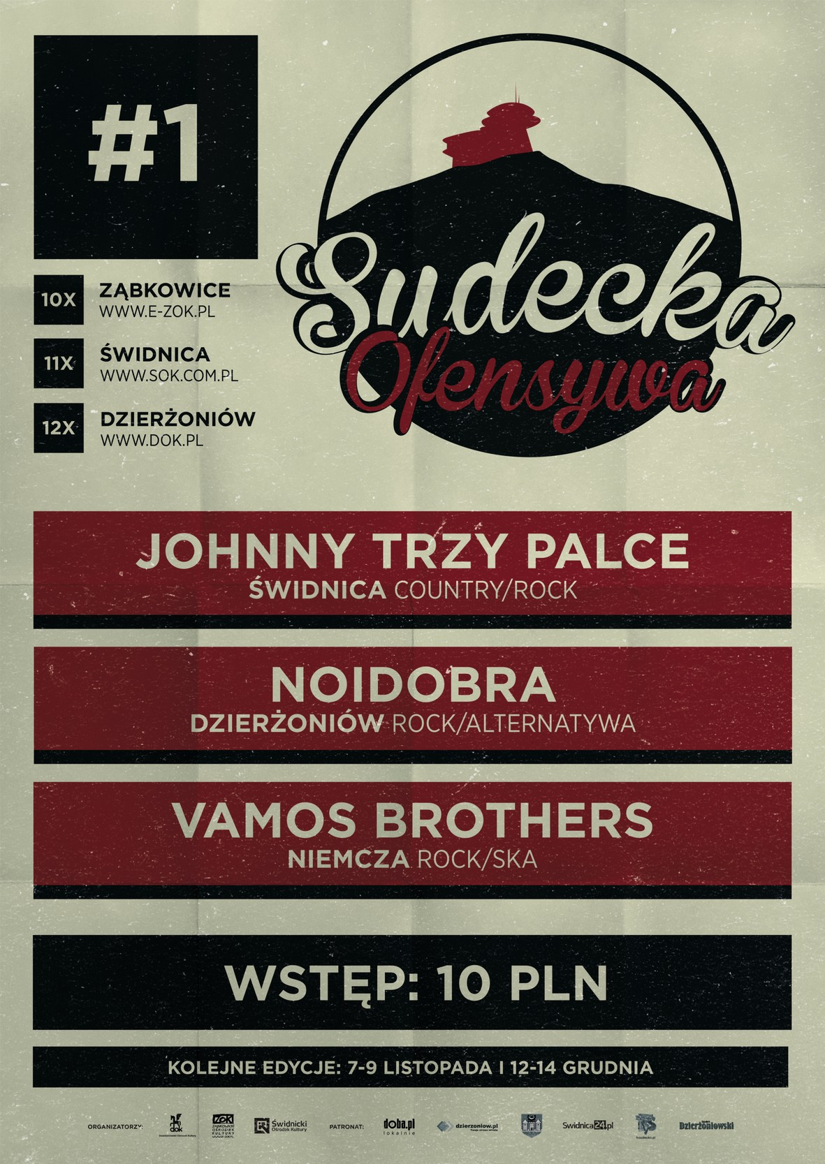 Sudecka Ofensywa: Johnny Trzy Palce + Noidobra + Vamos Brothers [koncert]