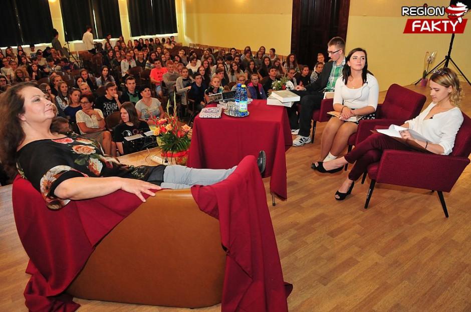 spotkanie z Anną Dymną (foto: Region Fakty / Wiktor Bąkiewicz)